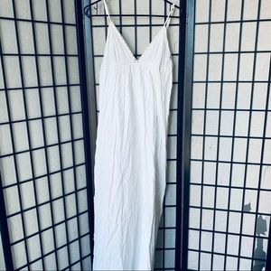 Victoria Secret White cotton maxi dress sz L